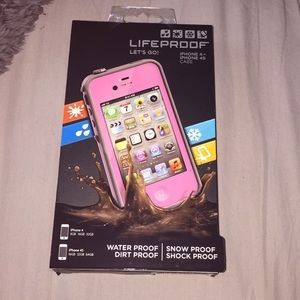 BRAND NEW Pink lifeproof case for I phone 4/4s